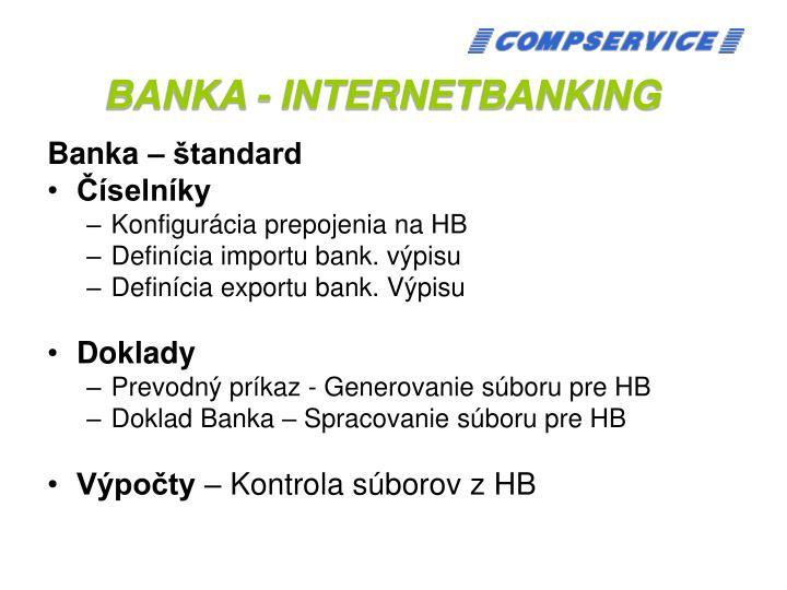 BANKA - INTERNETBANKING