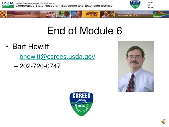 End of Module 6