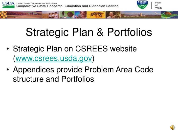 Strategic Plan & Portfolios