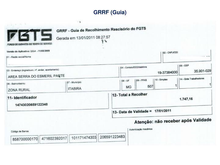GRRF (Guia)