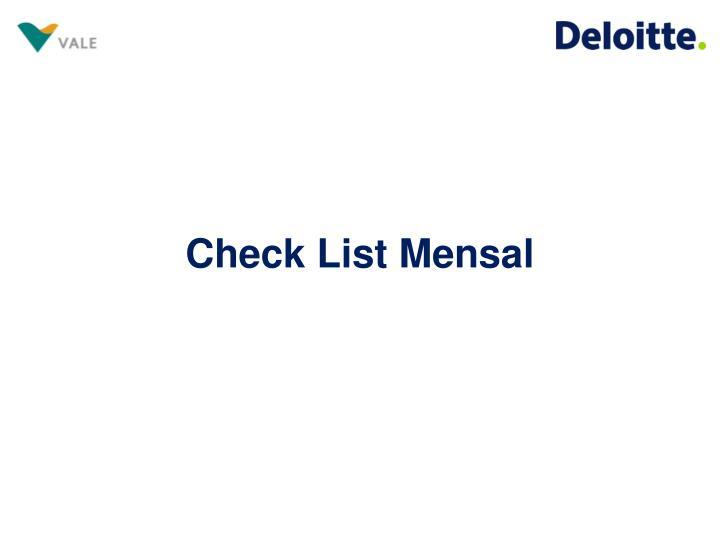 Check List Mensal