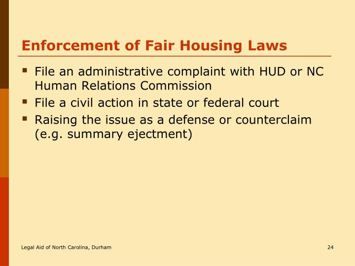 Ppt An Introduction To North Carolina Housing Law Powerpoint