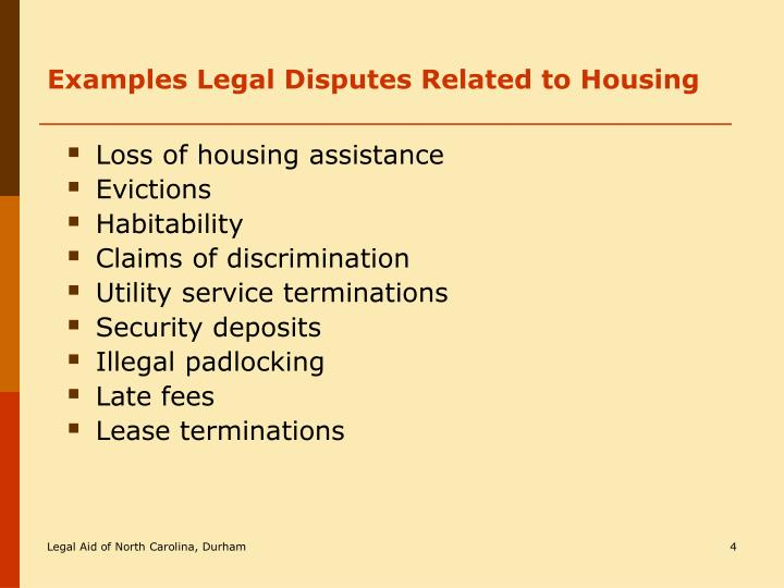 ppt - an introduction to north carolina housing law powerpoint