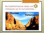 but performance does not measure up to our promise