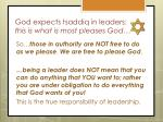 god expects tsaddiq in leaders this is what is most pleases god