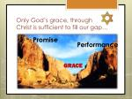 only god s grace through christ is sufficient to fill our gap