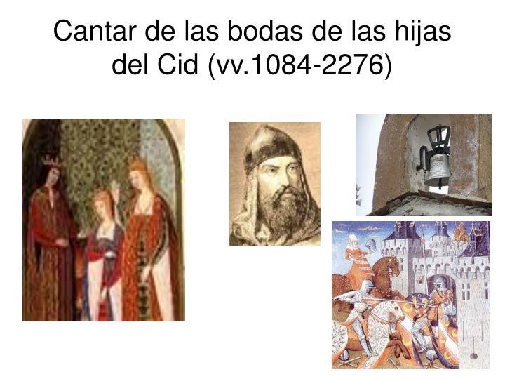 Cantar de las bodas de las hijas del Cid (vv.1084-2276)
