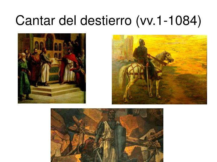Cantar del destierro (vv.1-1084)