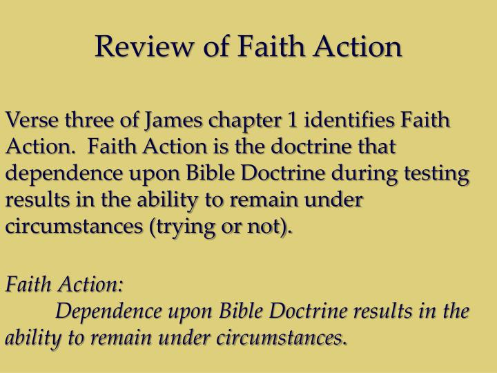 Review of Faith Action