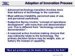 adoption of innovation process