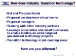 how does industry transition technology