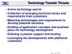 technology transfer thrusts