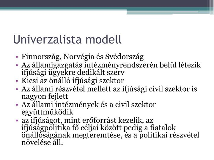 Univerzalista modell