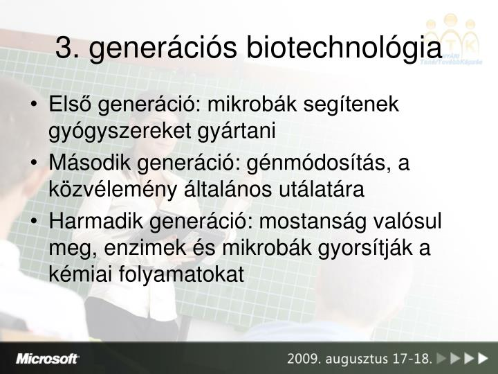 3. generációs biotechnológia