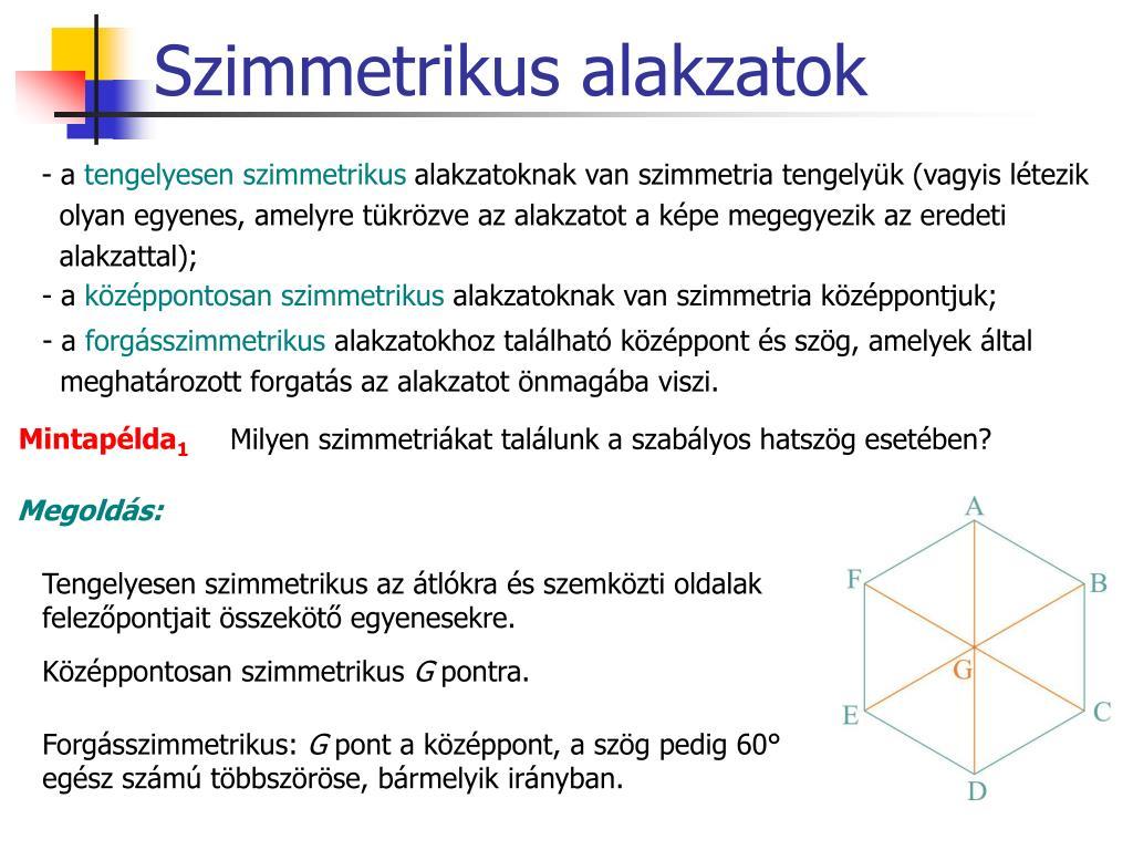 Középpontosan szimmetrikus alakzatok