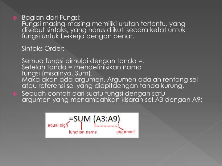 Bagian dariFungsi: