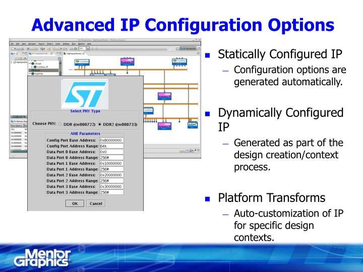 Advanced ip configuration options