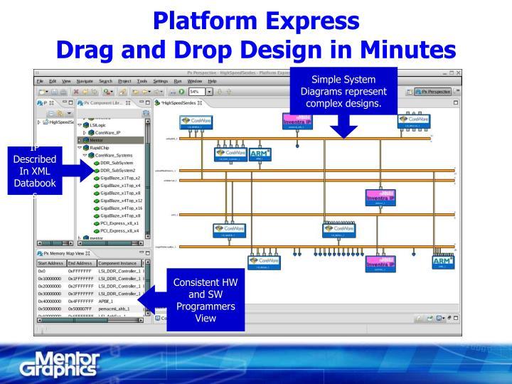 Platform express drag and drop design in minutes