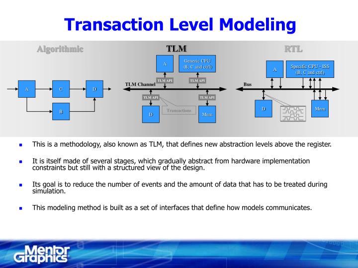 Transaction Level Modeling