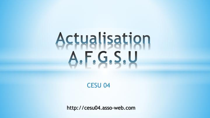 actualisation a f g s u n.