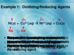example 1 oxidizing reducing agents