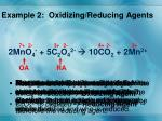 example 2 oxidizing reducing agents