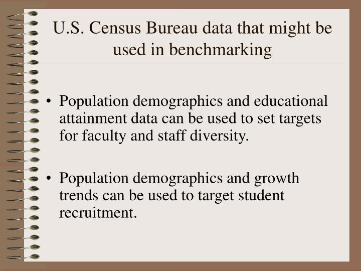 U s census bureau data that might be used in benchmarking