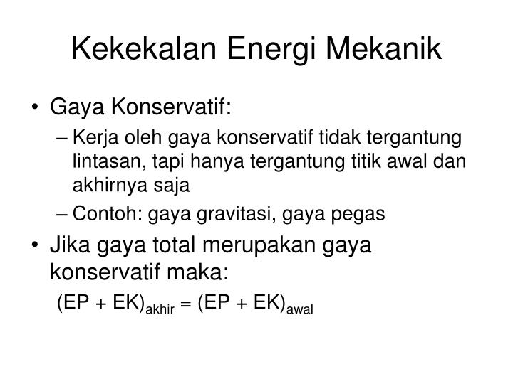 Kekekalan Energi Mekanik