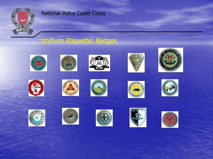 Uniform Etiquette: Badges