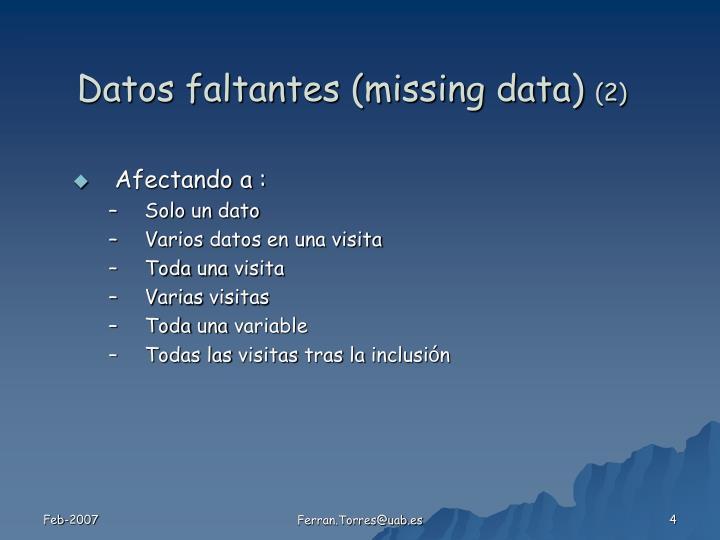 Datos faltantes (missing data)