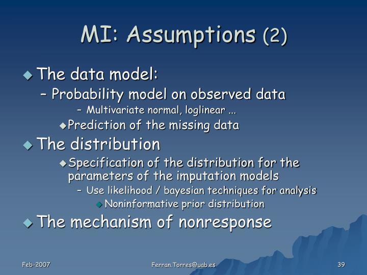 MI: Assumptions
