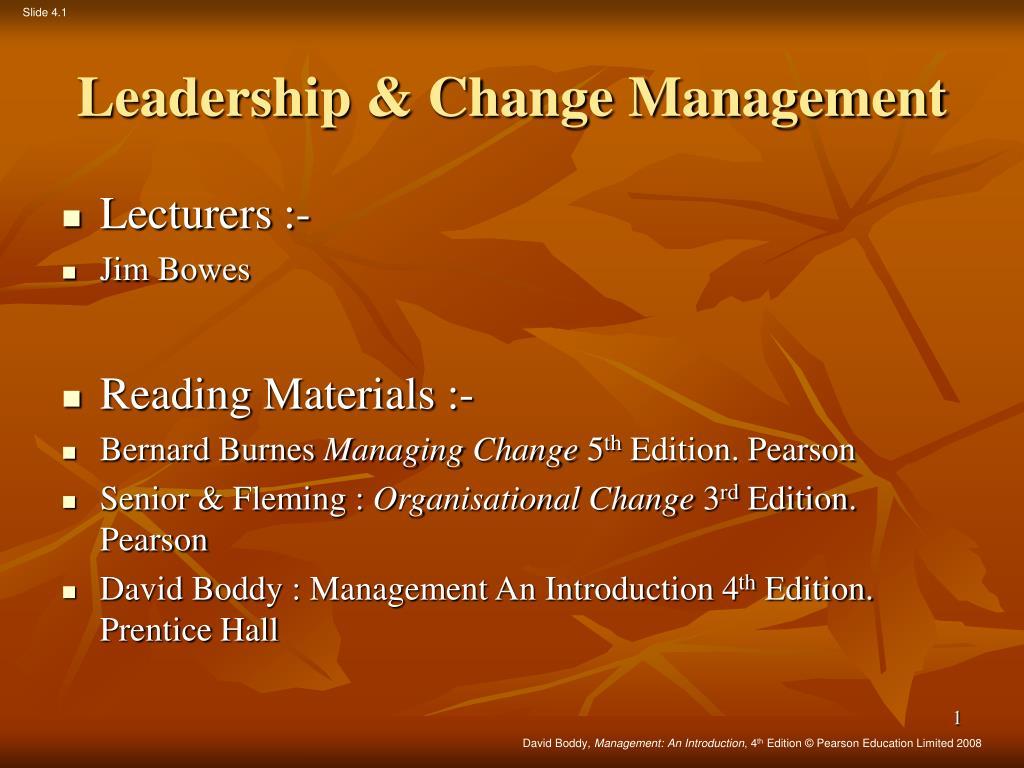 MANAGING CHANGE BERNARD BURNES 5TH EDITION PDF