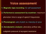 voice assessment