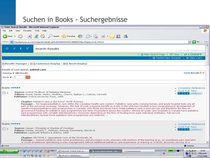 Suchen in Books - Suchergebnisse