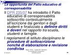 le opportunit del patto educativo di corresponsabilit