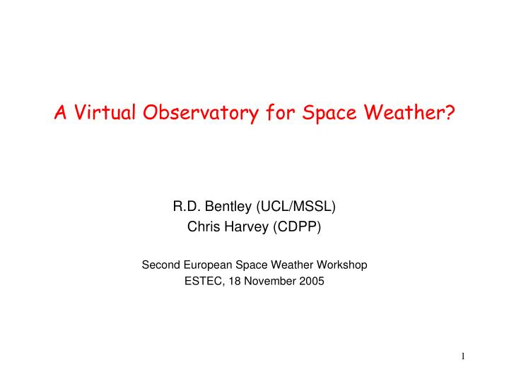 a virtual observatory for space weather n.