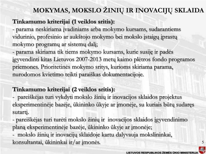 MOKYMAS,