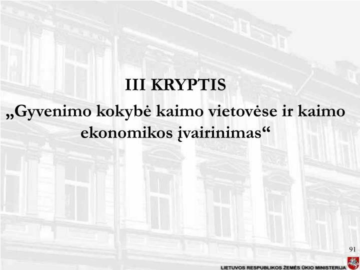 III KRYPTIS