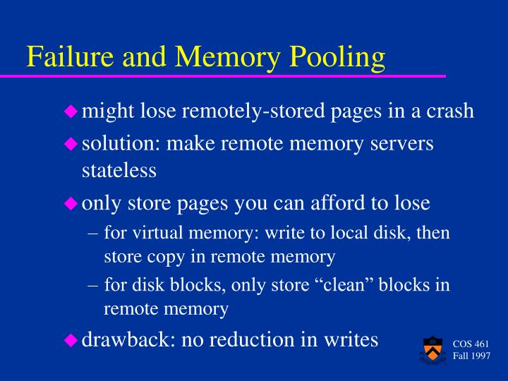 Failure and Memory Pooling