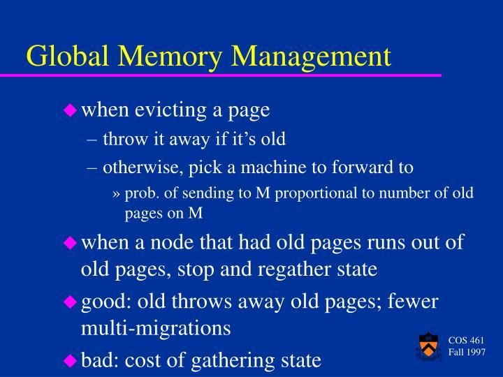 Global Memory Management