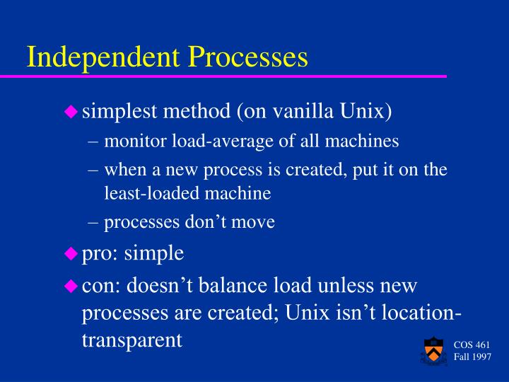 Independent Processes