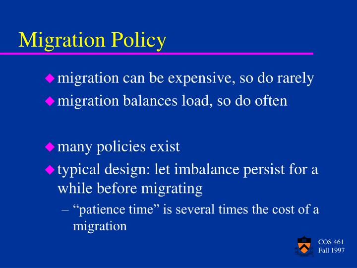 Migration Policy