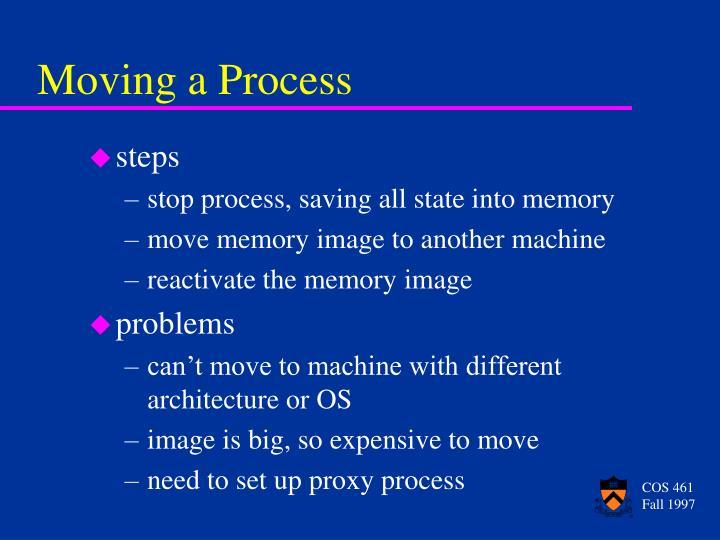 Moving a Process