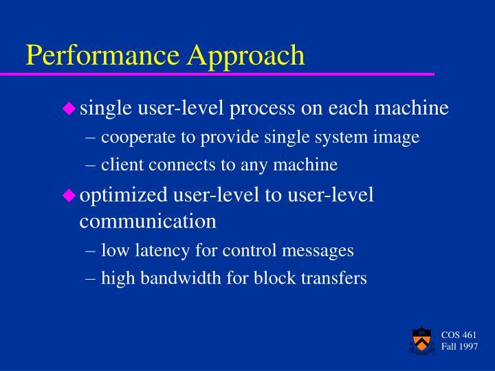 single user-level process on each machine