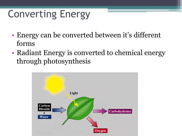 Converting Energy