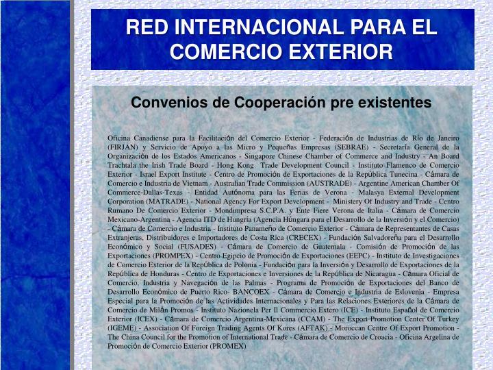 RED INTERNACIONAL PARA EL COMERCIO EXTERIOR