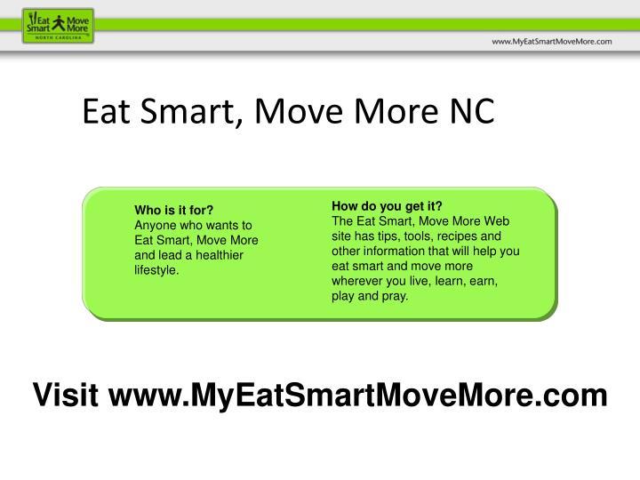 Eat Smart, Move More NC