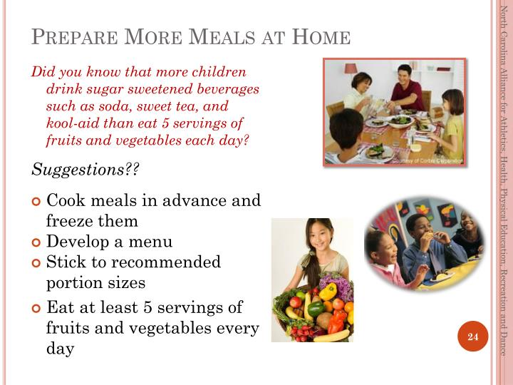 Prepare More Meals at Home