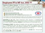 employees pf mp act 1952