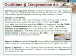 guidelines @ compensation act1